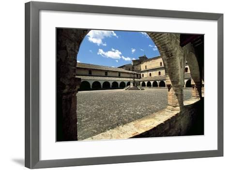 View of Cloister Courtyard, Chiaravalle Abbey, Fiastra, Tolentino, Marche, Italy--Framed Art Print