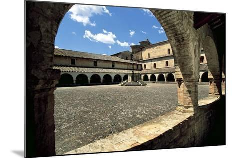 View of Cloister Courtyard, Chiaravalle Abbey, Fiastra, Tolentino, Marche, Italy--Mounted Giclee Print