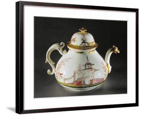 Chinoiserie Decorated Teapot with Griffon-Shaped Spout, 1725--Framed Art Print