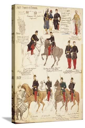 Various Uniforms of the Kingdom of France, 1857-1858--Stretched Canvas Print