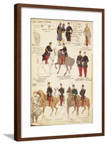 Various Uniforms of the Kingdom of France, 1857-1858--Framed Art Print