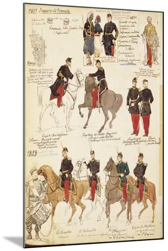 Various Uniforms of the Kingdom of France, 1857-1858--Mounted Giclee Print