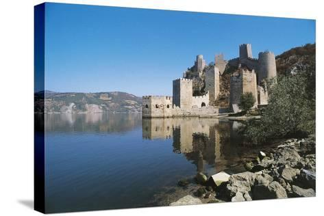 Serbia, Golubac Fortress, Mostly Built in 14th Century--Stretched Canvas Print