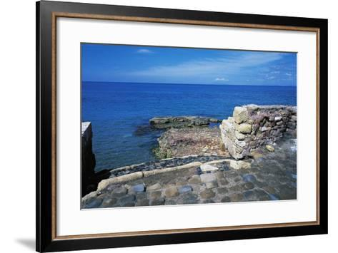 Ruins of Port of Clementine, Gravisca, Lazio, Italy--Framed Art Print
