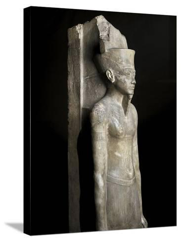 Egypt, Limestone Statue of God Amon of Karnak--Stretched Canvas Print