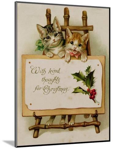 Kittens, Victorian Card--Mounted Giclee Print