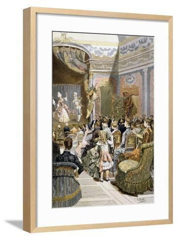 Theatre Scene with Actors and Audiences, France--Framed Art Print
