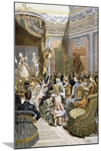 Theatre Scene with Actors and Audiences, France--Mounted Giclee Print