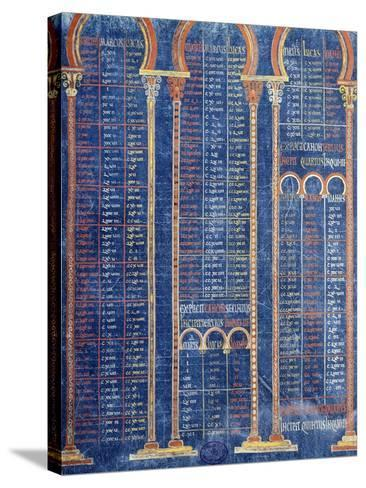Illuminated Page from the Bible by Danila 9th Century--Stretched Canvas Print