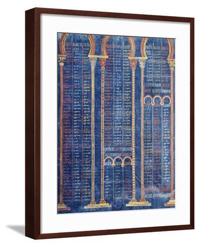 Illuminated Page from the Bible by Danila 9th Century--Framed Art Print