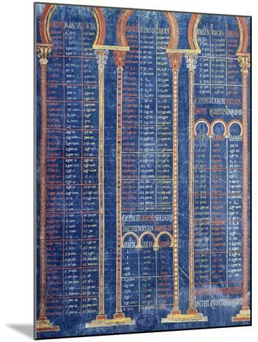 Illuminated Page from the Bible by Danila 9th Century--Mounted Giclee Print
