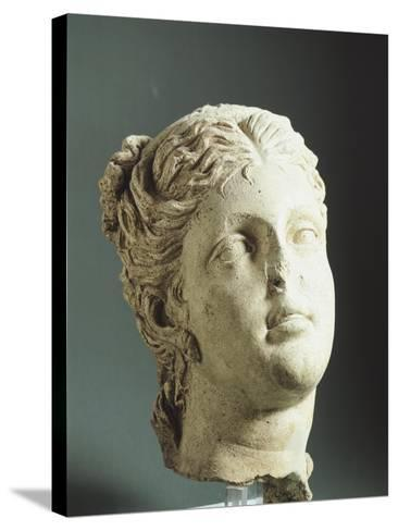 Female Head. Etruscan Civilization, 9th-1st Century BC--Stretched Canvas Print