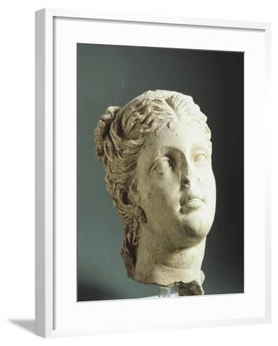 Female Head. Etruscan Civilization, 9th-1st Century BC--Framed Art Print