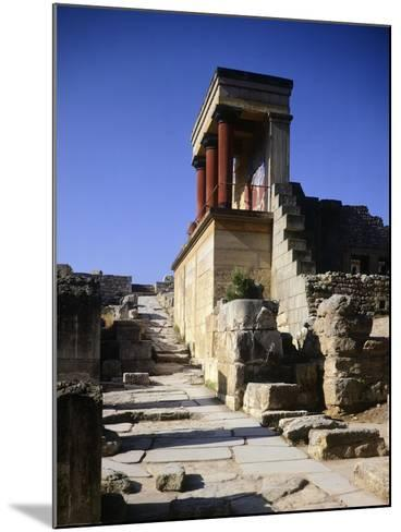 Greece, Crete, Foreshortening of Knossos Palace, Minoan Civilization, 16th Century BC--Mounted Giclee Print