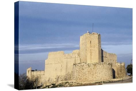 Norman Castle of Monte Sant'Angelo, Bari, Apulia, Italy, 12th Century--Stretched Canvas Print