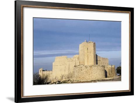 Norman Castle of Monte Sant'Angelo, Bari, Apulia, Italy, 12th Century--Framed Art Print