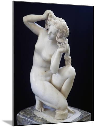 Statue of Aphrodite Bathing, Roman Copy in Marble of the Hellenistic Original BC--Mounted Giclee Print