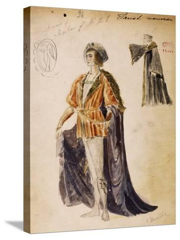 Faust, Sketch of Costume for Faust--Stretched Canvas Print