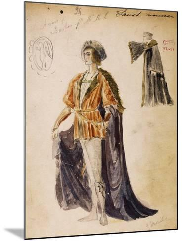 Faust, Sketch of Costume for Faust--Mounted Giclee Print