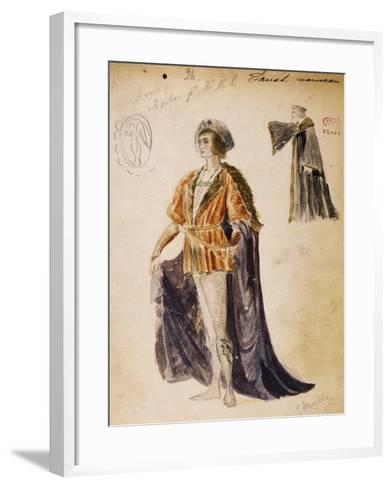Faust, Sketch of Costume for Faust--Framed Art Print