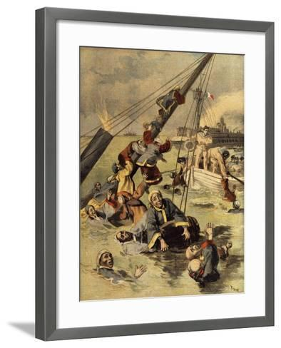 Events in Korea, Chinese Ship Sunk by Japanese, First Sino-Japanese War--Framed Art Print