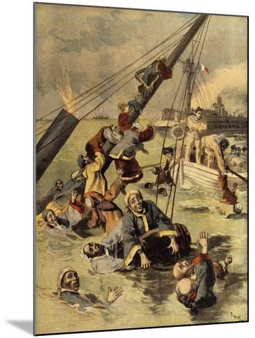 Events in Korea, Chinese Ship Sunk by Japanese, First Sino-Japanese War--Mounted Giclee Print
