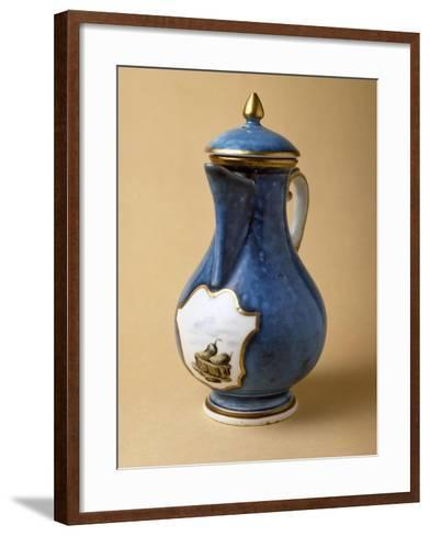 Turquoise Coffee Pot and Lid, 1745-1750, Porcelain--Framed Art Print