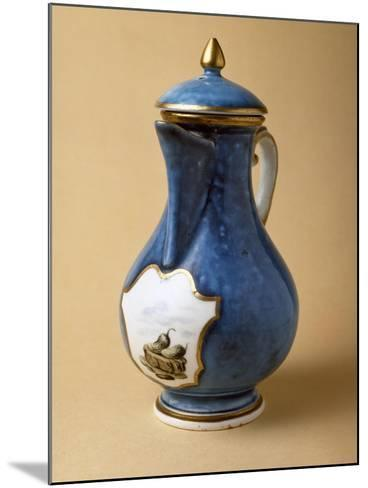 Turquoise Coffee Pot and Lid, 1745-1750, Porcelain--Mounted Giclee Print