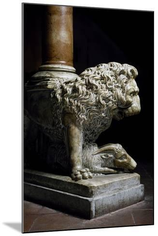 Lion Culmiferous, Pulpit, Wall, Church of St John Fuorcivitas, Pistoia, Tuscany, Italy,--Mounted Giclee Print