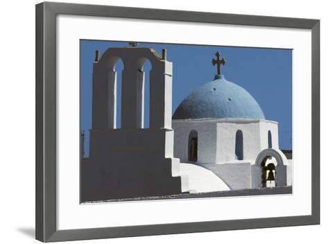 Church in Thira, Santorini Island, Cyclades, Greece--Framed Art Print