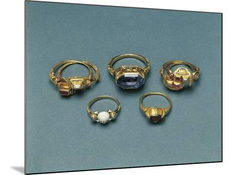 Gold, Enamels and Precious Stones Memento Mori Rings--Mounted Giclee Print