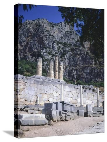 Greece, Delphi, Portico of the Athenians,5th Century BC, Ancient Greece--Stretched Canvas Print