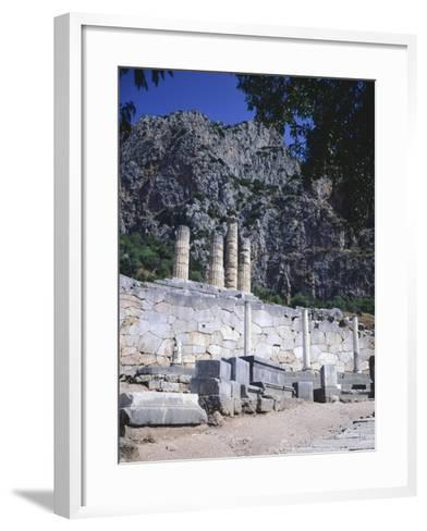 Greece, Delphi, Portico of the Athenians,5th Century BC, Ancient Greece--Framed Art Print