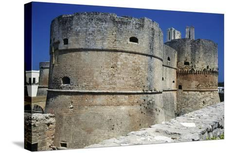 Towers of Aragonese Castle, Otranto, Apulia, Itlay--Stretched Canvas Print