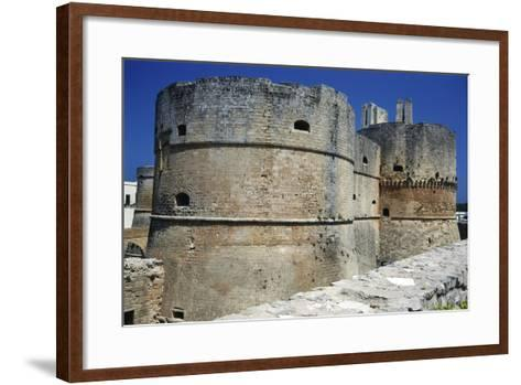 Towers of Aragonese Castle, Otranto, Apulia, Itlay--Framed Art Print