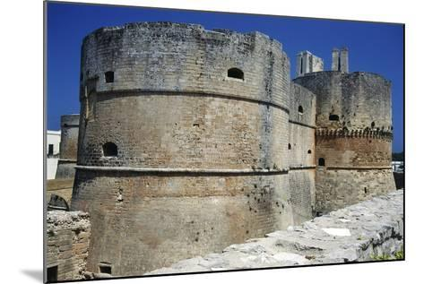 Towers of Aragonese Castle, Otranto, Apulia, Itlay--Mounted Giclee Print