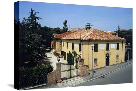 Birthplace of Giovanni Pascoli, Casa Pascoli Museum, San Mauro Pascoli, Emilia-Romagna, Italy--Stretched Canvas Print