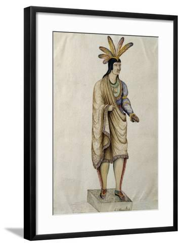 Native Americans Bringing Cigars, 1865--Framed Art Print