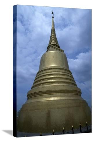 Thailand, Ayutthaya, Wat Sakesa Temple, Architectural Detail--Stretched Canvas Print