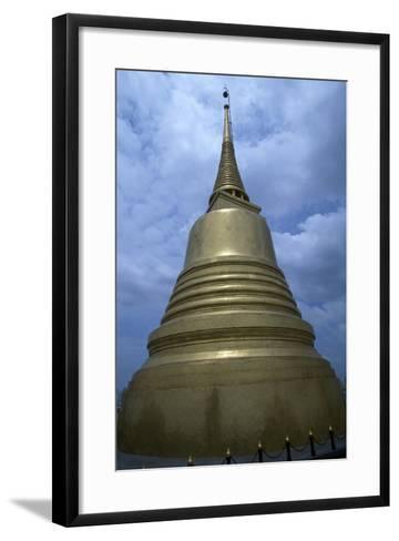 Thailand, Ayutthaya, Wat Sakesa Temple, Architectural Detail--Framed Art Print