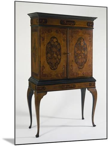 Cabinet with Veneer Finish and Various Wood Inlays, Netherlands--Mounted Giclee Print