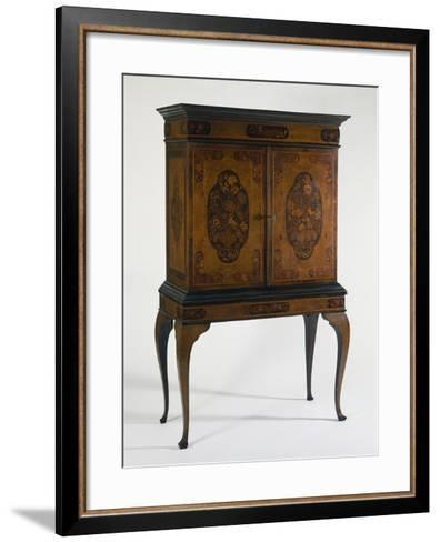 Cabinet with Veneer Finish and Various Wood Inlays, Netherlands--Framed Art Print