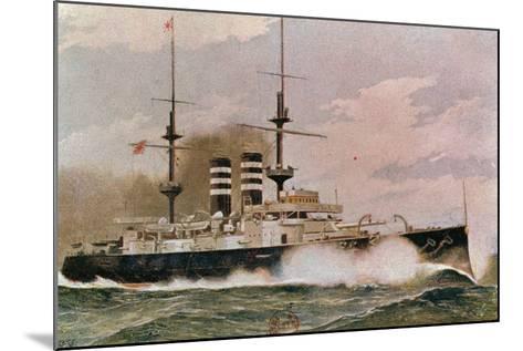 The Japanese Battleship Mikasa, Postcard--Mounted Giclee Print