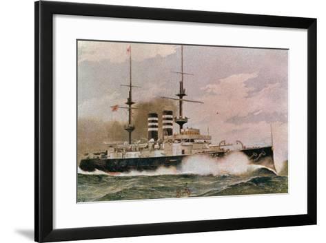 The Japanese Battleship Mikasa, Postcard--Framed Art Print