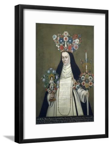 Sister Maria Josefa of Most Holy Rosary, Who Taught at Convent of Jesus of Guadalajara--Framed Art Print
