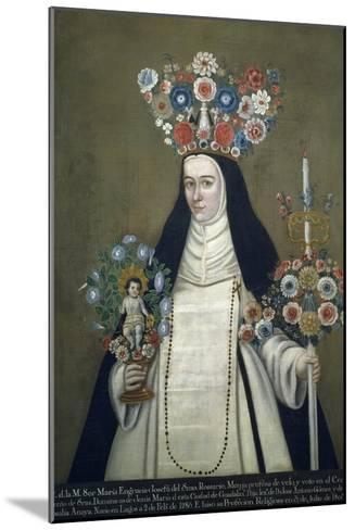Sister Maria Josefa of Most Holy Rosary, Who Taught at Convent of Jesus of Guadalajara--Mounted Giclee Print