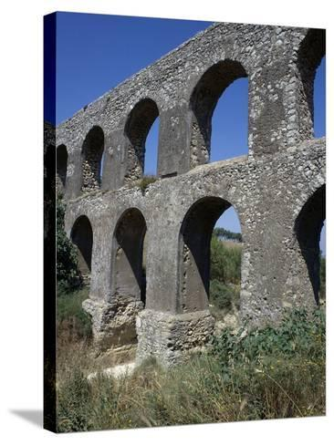 Remains of Roman Aqueduct, Tarquinia, Lazio, Italy--Stretched Canvas Print