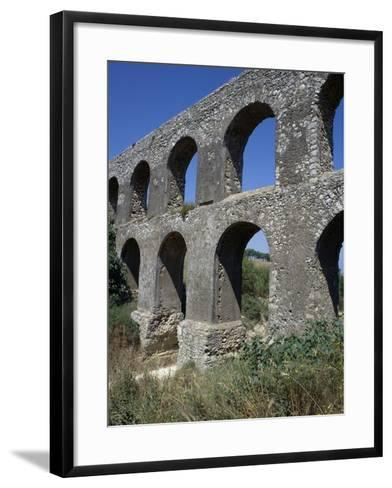 Remains of Roman Aqueduct, Tarquinia, Lazio, Italy--Framed Art Print