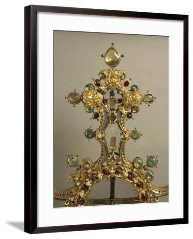 Detail of Gold and Gems Cross with Relics of Passion--Framed Art Print