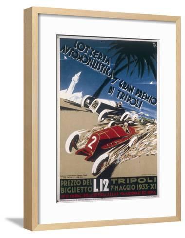 Automobile Lottery, Seventh Tripoli Grand Prix, May 7, 1933--Framed Art Print